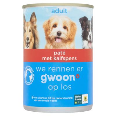 g´woon Hondenvoeding Paté Kalfspens 400 g