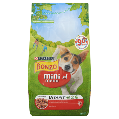 Bonzo Vitafit Mini Menu met Rund 1,5 kg