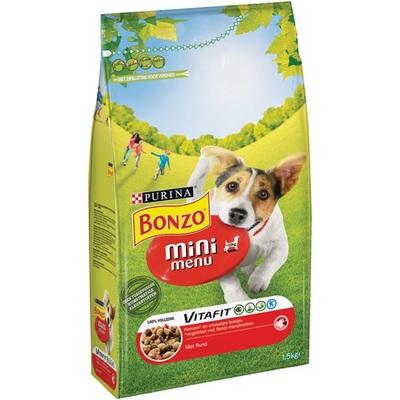 Bonzo mini hondenbrokken menu met rund