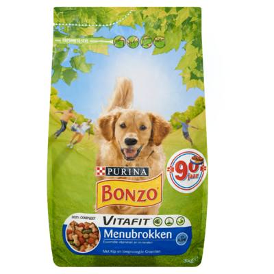 Bonzo Vitafit Menu Brokken met Kip en Groenten 3 kg