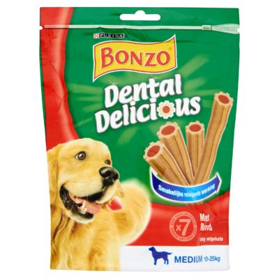 Bonzo Dental Delicious Snacks met Rund 7 Stuks 200 g