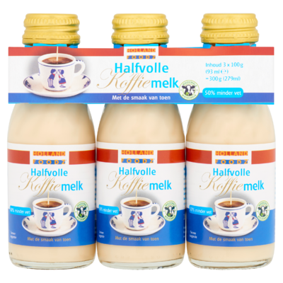 Holland Foodz Halfvolle Koffiemelk 3 x 100 g