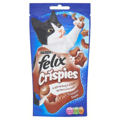 Felix Crispies Snacks met Rund en Kipsmaak 45 g