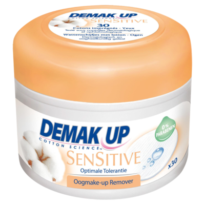 Demak'Up Sensitive Oogmake-up Reiniger Ultrazacht 30 Stuks