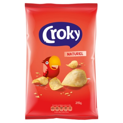 Croky naturel chips 215 gram