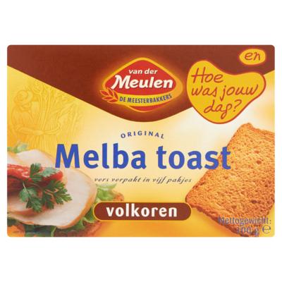 Van der Meulen Original Melba Toast Volkoren 100 g