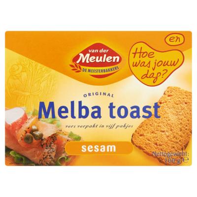 Van Der Meulen Original Melba Toast Sesam 100 g