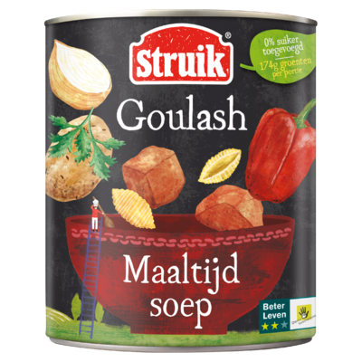 Struik Goulash Maaltijdsoep 810 g