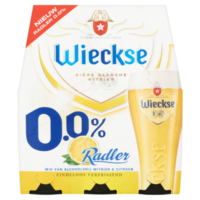Wieckse Radler 0.0% Bier Fles 6 x 30 cl