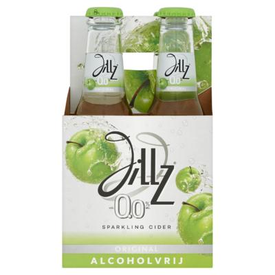 Jillz 0.0 Alcoholvrij Original Cider Fles 4 x 23 cl