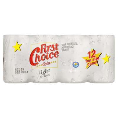 First Choice Cola Light 12 x 150 ml