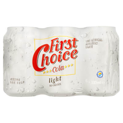 First Choice Cola Light 6 x 330 ml