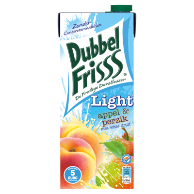 DubbelFrisss Light Appel & Perzik 1,5 L