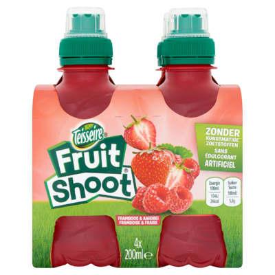 Fruit Shoot Framboos & Aardbei 4 x 200 ml