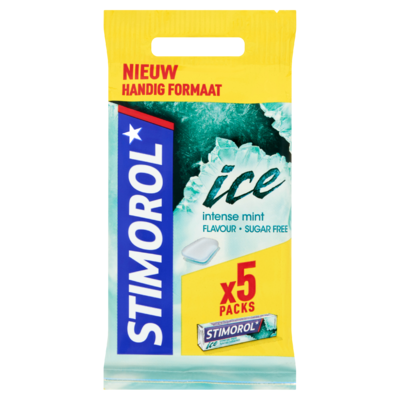 Stimorol Ice Intense Mint Flavour Sugar Free 5 x 14 g