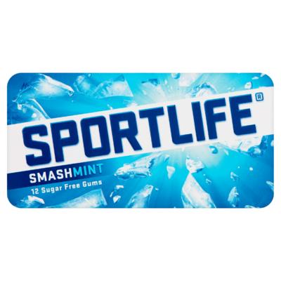 Sportlife Smashmint Suikervrij Kauwgom Blister 17 g
