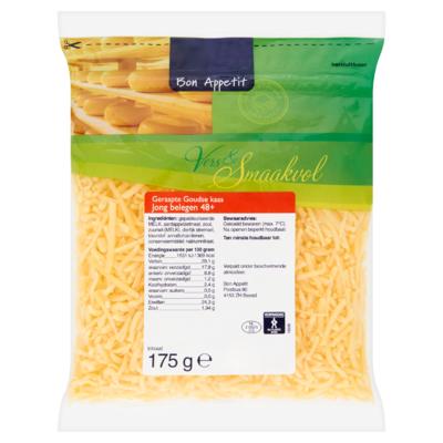 Bon Appetit Geraspte Goudse Kaas Jong Belegen 48+ 175 g