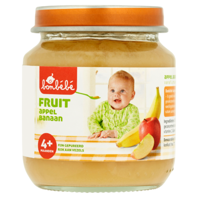 Bonbébé Fruit Appel Banaan 4+ Mnd 125 g