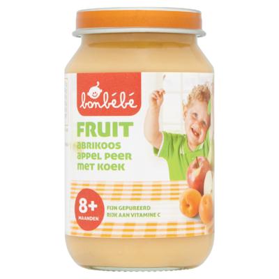Bonbébé Fruit Abrikoos Appel Peer met Koek 8+ Maanden 200 g