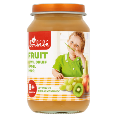 Bonbébé Fruit Kiwi, Druif, Appel, Peer 8+ Maanden 190 g