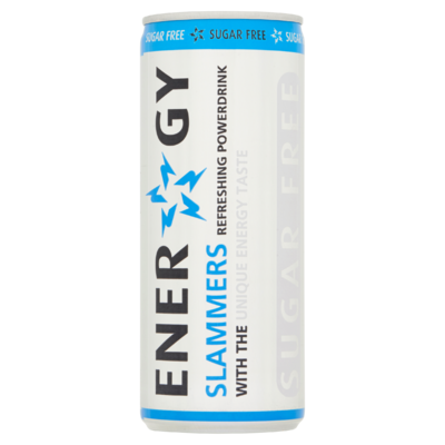 Energy Slammers Sugarfree 250 ml