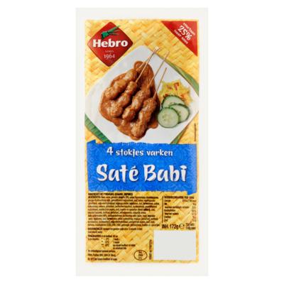 Hebro Saté Babi 4 Stokjes Varken 172 g