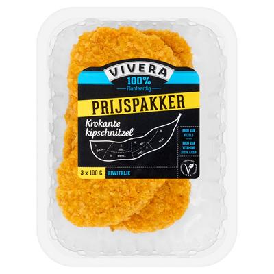 Vivera 100% Plantaardig Krokante Kipschnitzel 3 x 100 g
