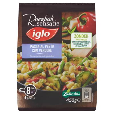 Iglo Roerbak Sensatie Pasta Pesto met Groenten 450 g