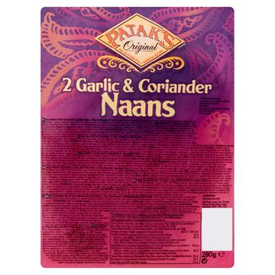 Patak's Original Garlic & Coriander Naans 2 x 140 g