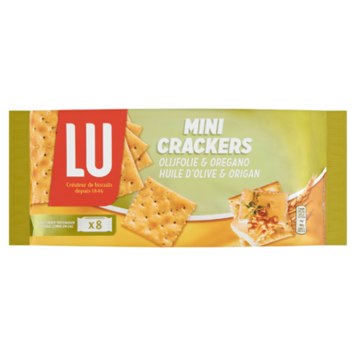 LU Mini Crackers Olijfolie & Oregano 8 x 5 Toastjes 250 g