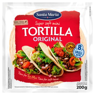 Santa Maria Super Soft Mini Tortilla Original 8 Stuks 200 g