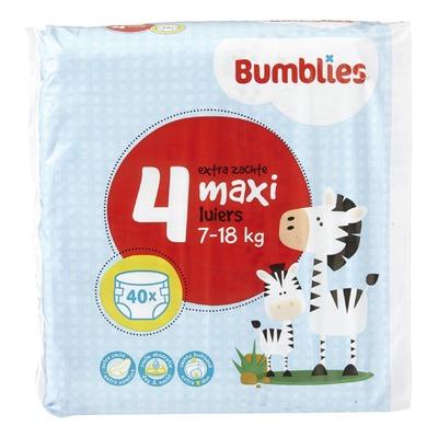 Bumblies Luiers 4 Maxi 7-18 kg 40 Stuks