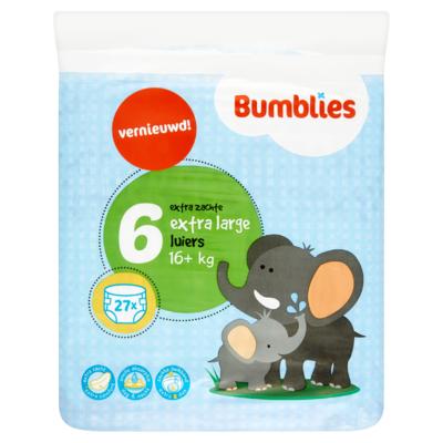 Bumblies Luiers 6 Extra Large 16+ kg 27 Stuks