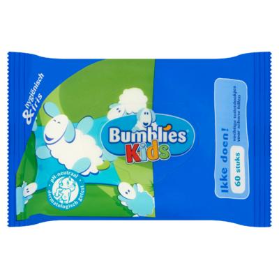 Bumblies Kids Toiletdoekjes Ikke Doen! 60 Stuks