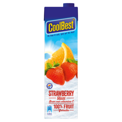 Coolbest 100% fruit  strawberry hil