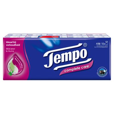 Tempo Complete Care 4-Laags Zakdoeken 10 x 9 Stuks