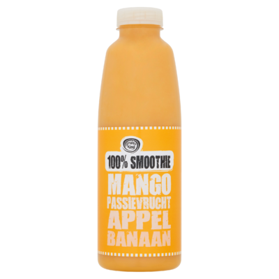 Fruity King 100% Smoothie Mango Passievrucht Appel Banaan 750 ml
