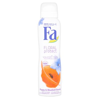 Fa Deodorant 48u Floral Protect Poppy&Bluebell 150 ml