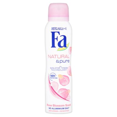 Fa Deodorant 48u Natural & Pure Rose 150 ml