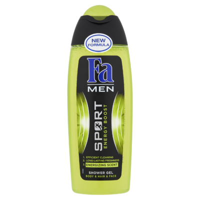 Fa Men Shower Gel & Shampoo Sport Energy Boost 250 ml