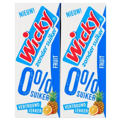 Wicky Fruit Zonder Suiker 10 x 0,20 L