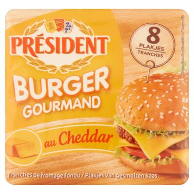 Président Burger Gourmand au Cheddar Kaas 8 Plakjes 150 g