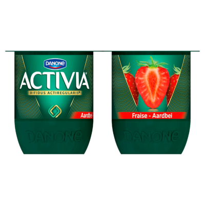 Activia Aardbei 4 x 125 g