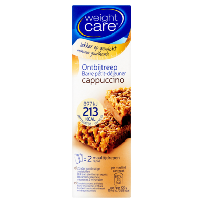 Weight Care Ontbijtreep Cappuccino 2 x 58 g