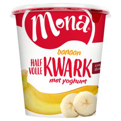 Mona Halfvolle Kwark Banaan 750 g