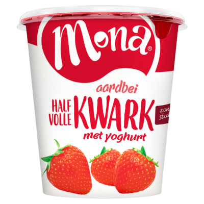 Mona Kwark  halfvol aardbei