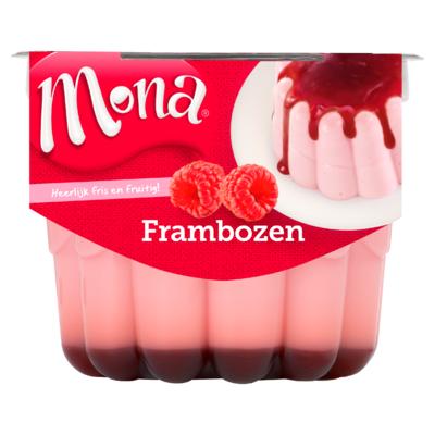 Mona Frambozen Pudding met Bosvruchtensaus 450 ml