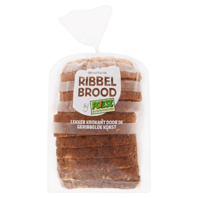 Poiesz Ribbelbrood Grof Volkoren Half