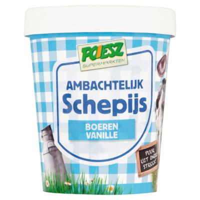 Poiesz Ambachtelijk Schepijs Boeren Vanille 500 ml