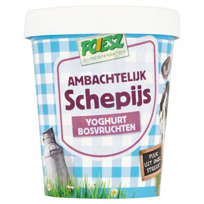 Poiesz Ambachtelijk Schepijs Yoghurt Bosvruchten 500 ml